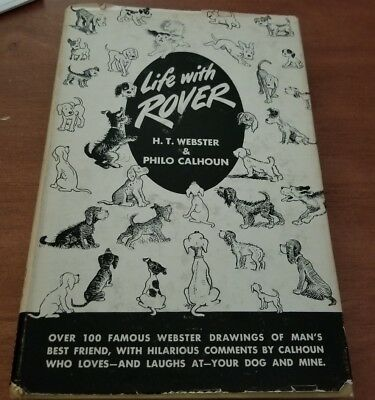 Life With Rover Vintage Dog Comics Webster & Calhoun Illustrated 1949