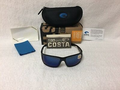65aa01aa559ed NEW Costa Del Mar Reefton Polarized Sunglasses Blackout Blue 580P RFT 01  OBMP