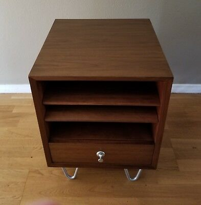 Herman Miller Basic Cabinet Series (BCS) Bedside Table Nightstand vintage walnut