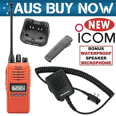 EXPRESS ICOM IC-41PRO ORANGE 5W UHF CB Radio + WATERPROOF Speaker Microphone MIC