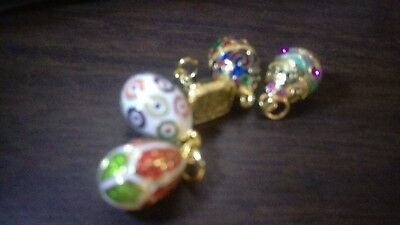Lot of 5 Joan Rivers Faberge eggs and charms Crystal and Enamel NO RESERVE JR20