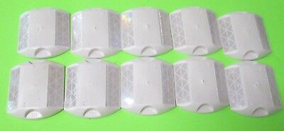 NEW 3M WHITE 2 WAY Road Highway Pavement Marker Reflector RPM 10 Pack