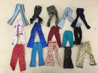 Vintage Retro Barbie Doll Clothing 15 Pants Bottoms Lot B9