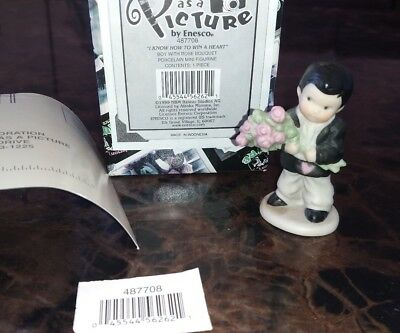 Kim Anderson Paap Figurine Enesco 487708 I Know How To Win A Heart