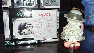 Kim Anderson Enesco PAAP Ornament Girl Hat Box Thinking of You 960489L