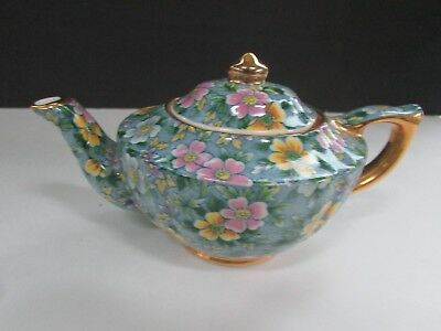 Petite Fleur Chintz Tea Pot by James Sadler Made In England Small Personal Size