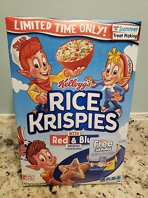 Limited Time Kellogg's Rice Krispies with Red & Blue Krispies 9.9oz