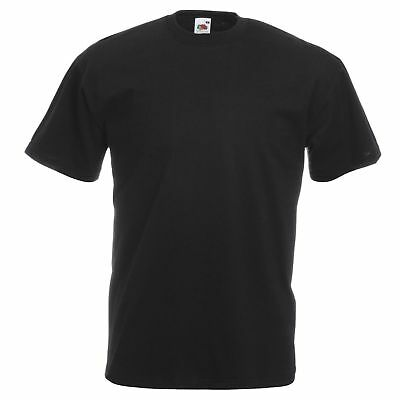 5 or 10 PACK FRUIT OF THE LOOM BLACK WHITE MENS COTTON T-SHIRTS WHOLESALE S-5XL