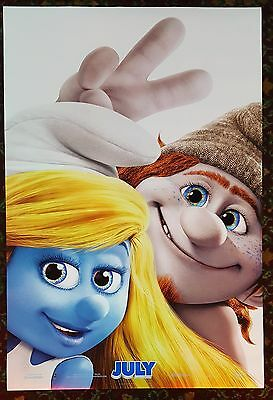 THE SMURFS 2 Orig Movie Poster 27x40 DS Authentic Teaser Version