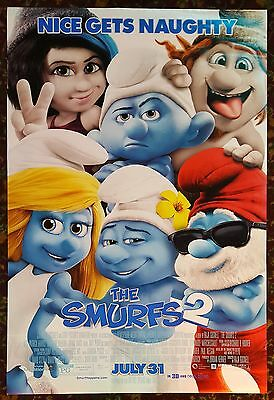 THE SMURFS 2 Orig Movie Poster 27x40 DS Authentic Final Version