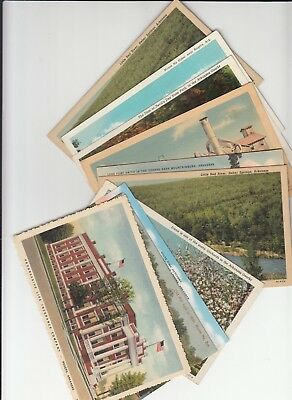 Lot of 10 Misc AR Arkansas Vintage Era Postcards Lead Plant Rogers Monte Ne Mill