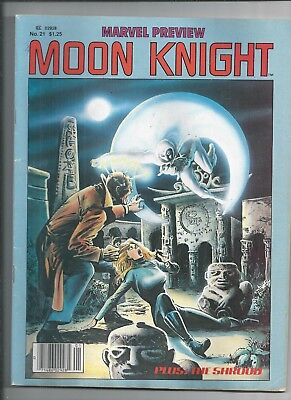 Marvel Preview #21 1980  1st Solo Moon Knight  VERY FINE CONDITION
