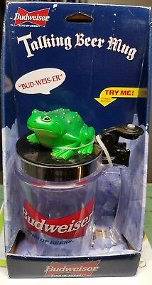 VINTAGE OFFICIAL BUDWEISER BEER TALKING FROG MUG COLLECTIBLE New 1996