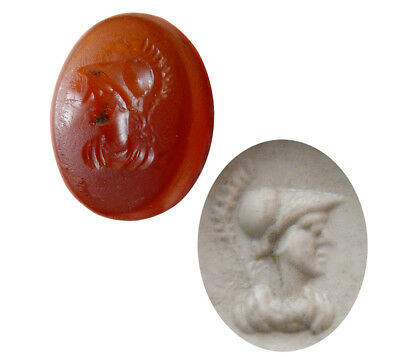 PCW-AN368-GREECE. Ca. 2nd.  Century BC. Carnelian Stamp Seal Ring Intaglio.