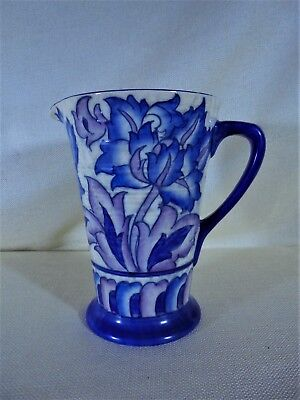 Vintage Pitcher Signed Charlotte Rhead Floral Tube Lined Design Crown Ducal 1930