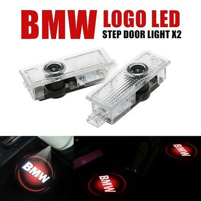 2 Red BMW Logo LED Step Door Courtesy Welcome Light Ghost Shadow Laser Projector
