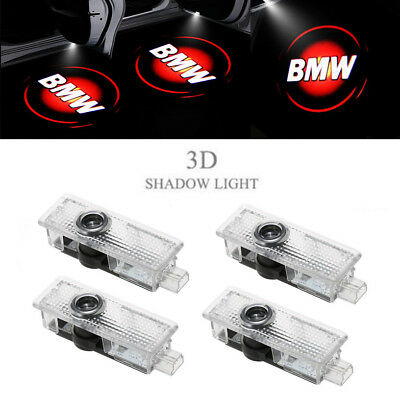 4 Red BMW Logo LED Step Door Courtesy Welcome Light Ghost Shadow Laser Projector