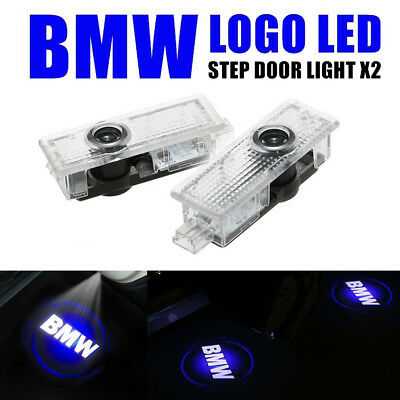 2X Blue BMW LED Step Door Courtesy Welcome Light Ghost Shadow Laser Projector