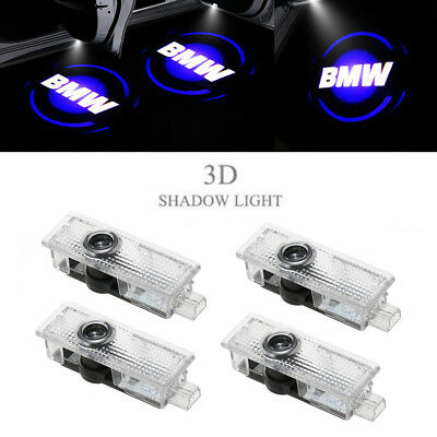 4X Blue BMW LED Step Door Courtesy Welcome Light Ghost Shadow Laser Projector