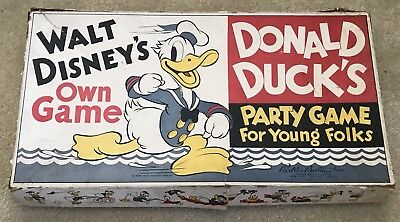 Vintage Parker Brothers Donald Duck's Party Game for Young Folks 1938