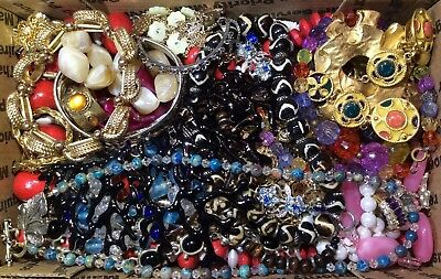 Huge Vintage - Now Jewelry Lot Estate Find Junk Drawer UNSEARCHED UNTESTED #544