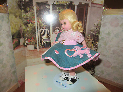 "Collectable 8"" Madame Alexander Doll Sock Hop Rare Darker Skirt-Club"