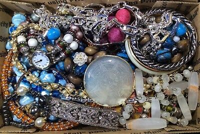 Huge Vintage - Now Jewelry Lot Estate Find Junk Drawer UNSEARCHED UNTESTED #546