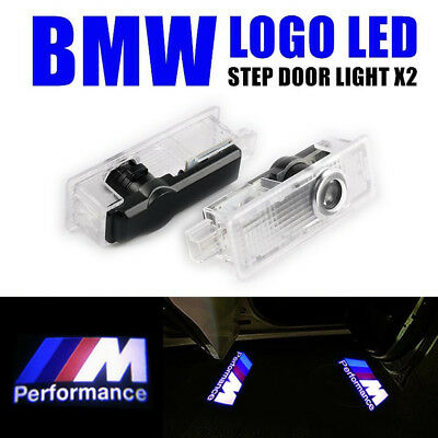2PCS For BMW M Performance Logo LED Step Door Light Ghost Shadow Laser Projector