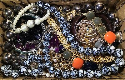 Huge Vintage - Now Jewelry Lot Estate Find Junk Drawer UNSEARCHED UNTESTED #547