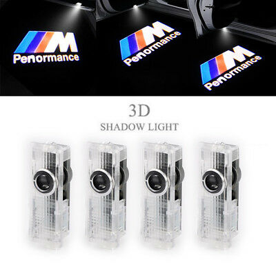4PCS For BMW M Performance Logo LED Step Door Light Ghost Shadow Laser Projector