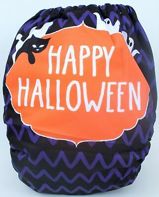 Happy Halloween Fall one-size pocket cloth diaper SHIPS FROM USA
