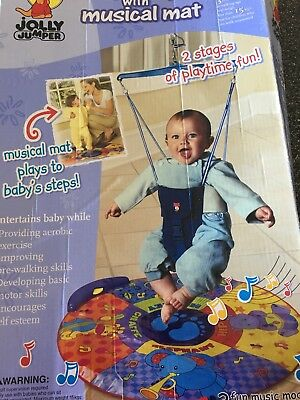 Jolly Jumper Baby exerciser with padded saddle used excellent condition in box.