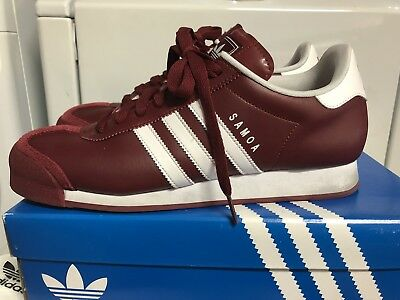 adidas Samoa Cardinal Or Burgundy Maroon Size 10.5 Rare Color And Hard To Find