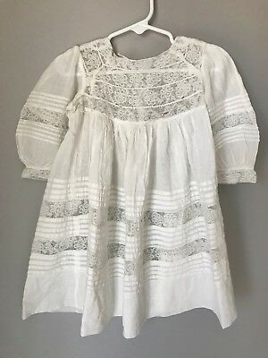 Gorgeous Antique Victorian/ Edwardian Lawn and lace Childs / Girls Dress