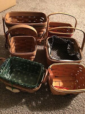 Longaberger Basket Lot Of Six