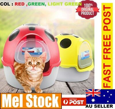 Toilet LitterBox Cat Pet Tray Portable Hooded House Handle Scoop Carrier AU SELL