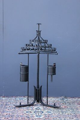 Large revolving Vintage Church candle holder. Circa 1940's.  Cast iron.