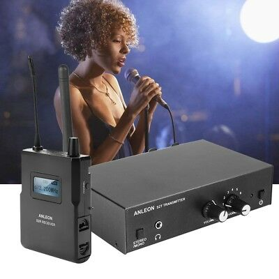 ANLEON S2 Stereo UHF Wireless Monitor System In-Ear System 863-865MHZ 100M A/ V