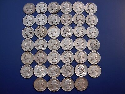 Very nice lot of 40 different Washington quarters. 1932-1959-D.