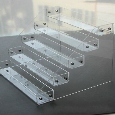 Clear Acrylic 2-6 Tier Display Shelf Showcase for Action Figure Toys Cosmetics