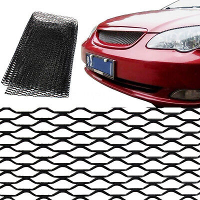 13x40 In Car Auto Vehicle Black Body Grille Net Front Bumper Aluminum Mesh Grill