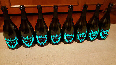 9 x Dom Perignon Brut Luminous Empty Bottles 750mL