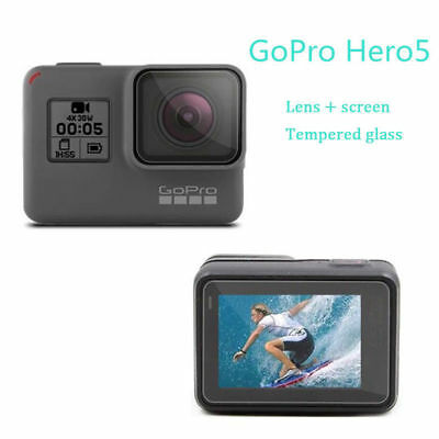 2018 For Gopro Hero 6 LCD HD Front Film+Back Tempered Glass Screen Protector