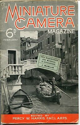 The Miniature Camera Magazine Vol 2, No 3, Feb 1938 vintage photography