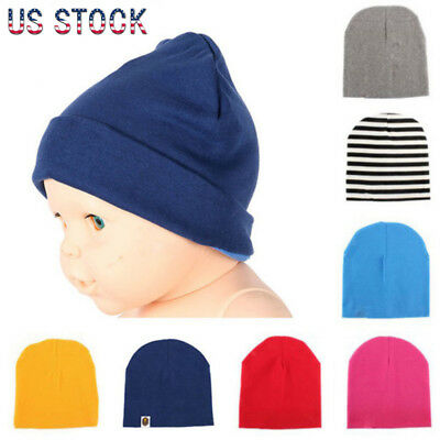 US Fashion NewBorn Baby Boy Girl Soft Cotton Hat Toddler Kid Winter Warm Cap