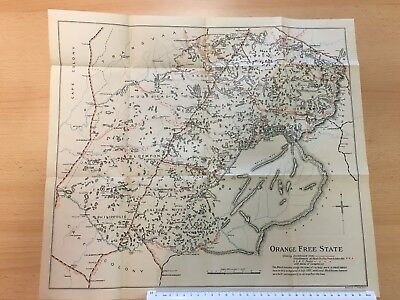 Antique Vintage Map 1907 - Boer War - Orange Free State Map - Vintage Wall Art
