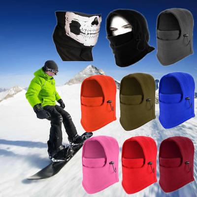 Motorcycle Fleece Thermal Balaclava Neck Winter Ski Full Face Mask Cap Cover Hat
