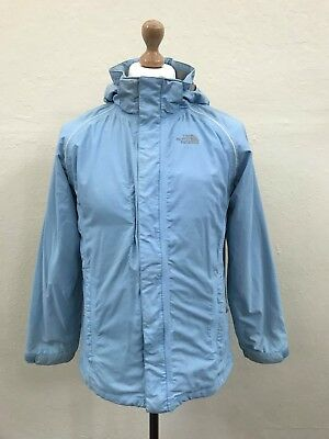 THE NORTH FACE Hooded HYVENT Jacket Coat XL Girls / Small Womens Blue