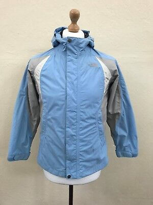 THE NORTH FACE Girls HYVENT Jacket Coat | Hooded Waterproof | Large L 14-16 Blue