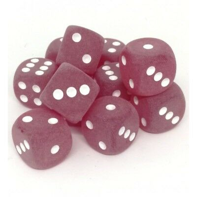 Set d6 16mm Frosted Red w/white - Chessex CHX LE406